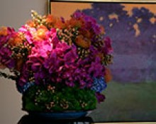 J. Miller Flowers & Gifts, Valerie Lee Ow; co-exhibitor Robbin Lee; assistant Morgan Carpenter, inspired by Richard Mayhew, Rhapsody, 2002. Photography by Douglas Sandberg