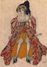 Costume design for Potiphar's wife in the ballet, La légende de Joseph, by Léon Bakst (Lev Samoilovich Rosenberg), 1914