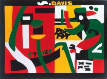 "Stuart Davis, ""Night Life"",1962"