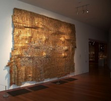 work of art by El Anatsui