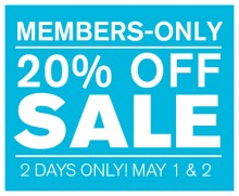 MEMBERS-ONLY 20% OFF SALE