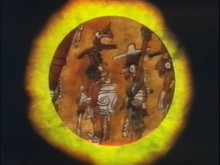 Video still from Popol Vuh: The Creation Myth of the Maya, by Patricia Amlin