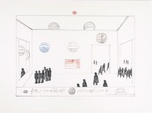 Saul Steinberg American, The Museum (H.C.), 1972