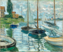 "Claude Monet, ""Sailboats on the Seine,"" 1874"