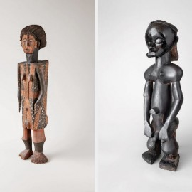 Eyema byeri (the image of the ancestor), figure from a reliquary assemblage, 19th century. Gabon, Fang Ntumu. Wood. Private collection. Photo © Robert A. Kato
