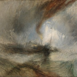 Joseph Mallord William Turner, Snow Storm—Steam-Boat off a Harbour's Mouth, exhibited 1842. Oil on canvas. Tate London. Image ©