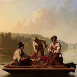 Bingham, Boatmen on the Missouri, 1846