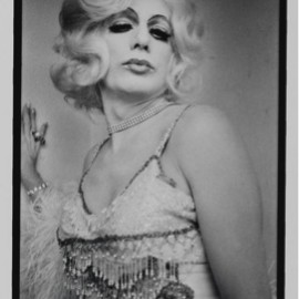 photograph by Anthony Friedkin of a drag queen