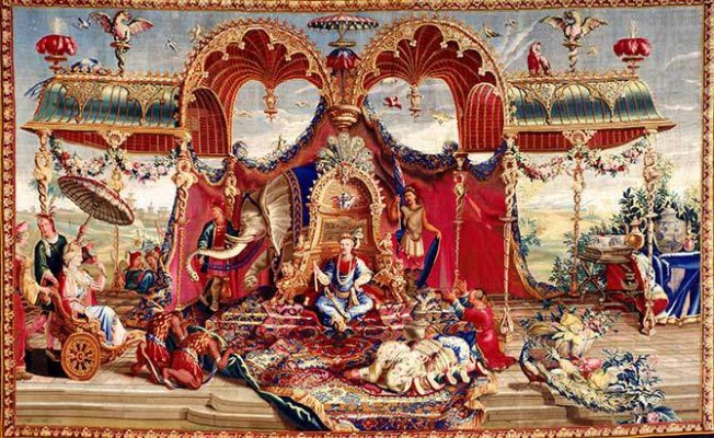 """""""The Audience of the Emperor,"""" 1722–1723. France, Beauvais"""