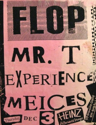 club poster for the Mr. T experience
