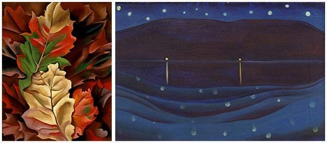 Autumn Leaves and Starlight Night, Lake George, by Georgia O'Keeffe