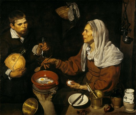 Diego Velázquez, An Old Woman Cooking Eggs, 1618. Oil on canvas. Scottish National Gallery