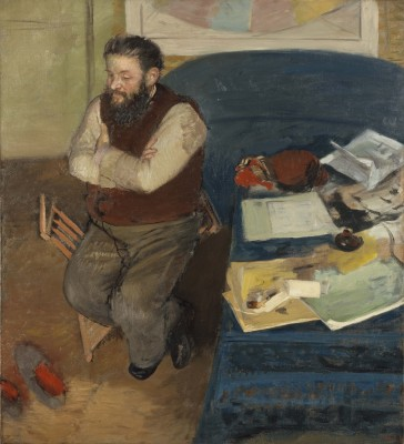 Edgar Degas, Diego Martelli, 1879. Oil on canvas. Scottish National Gallery