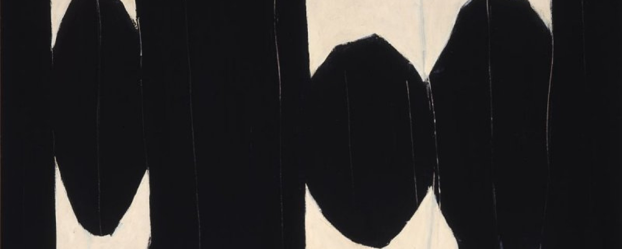 Robert Motherwell, At Five in the Afternoon, 1950. Oil on hardboard. Fine Arts Museums of San Francisco, bequest of Josephine Morris. Art © Dedalus Foundation Inc./Licensed by VAGA, New York, NY