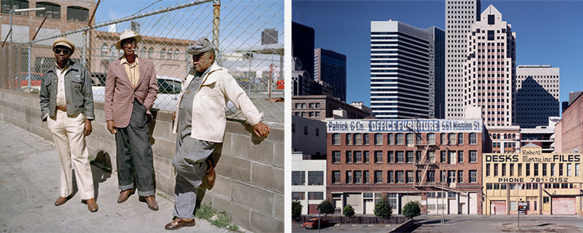Janet Delaney photographs of neighbors at Folsom Street and of view of the Financial District