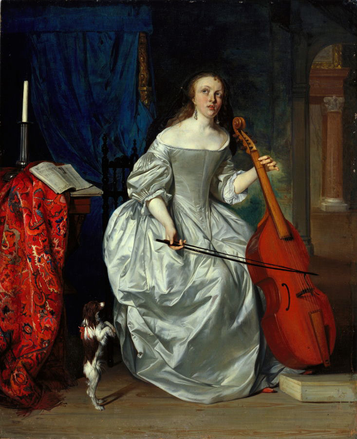 "Gabriel Metsu, ""Woman Playing the Viola da Gamba"", 1663"