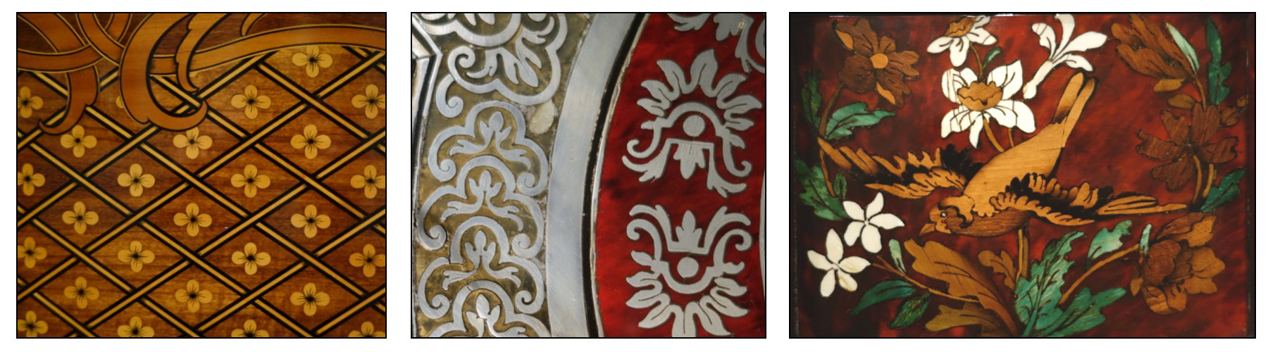examples of trellis motif in decorative arts at the Legion of Honor