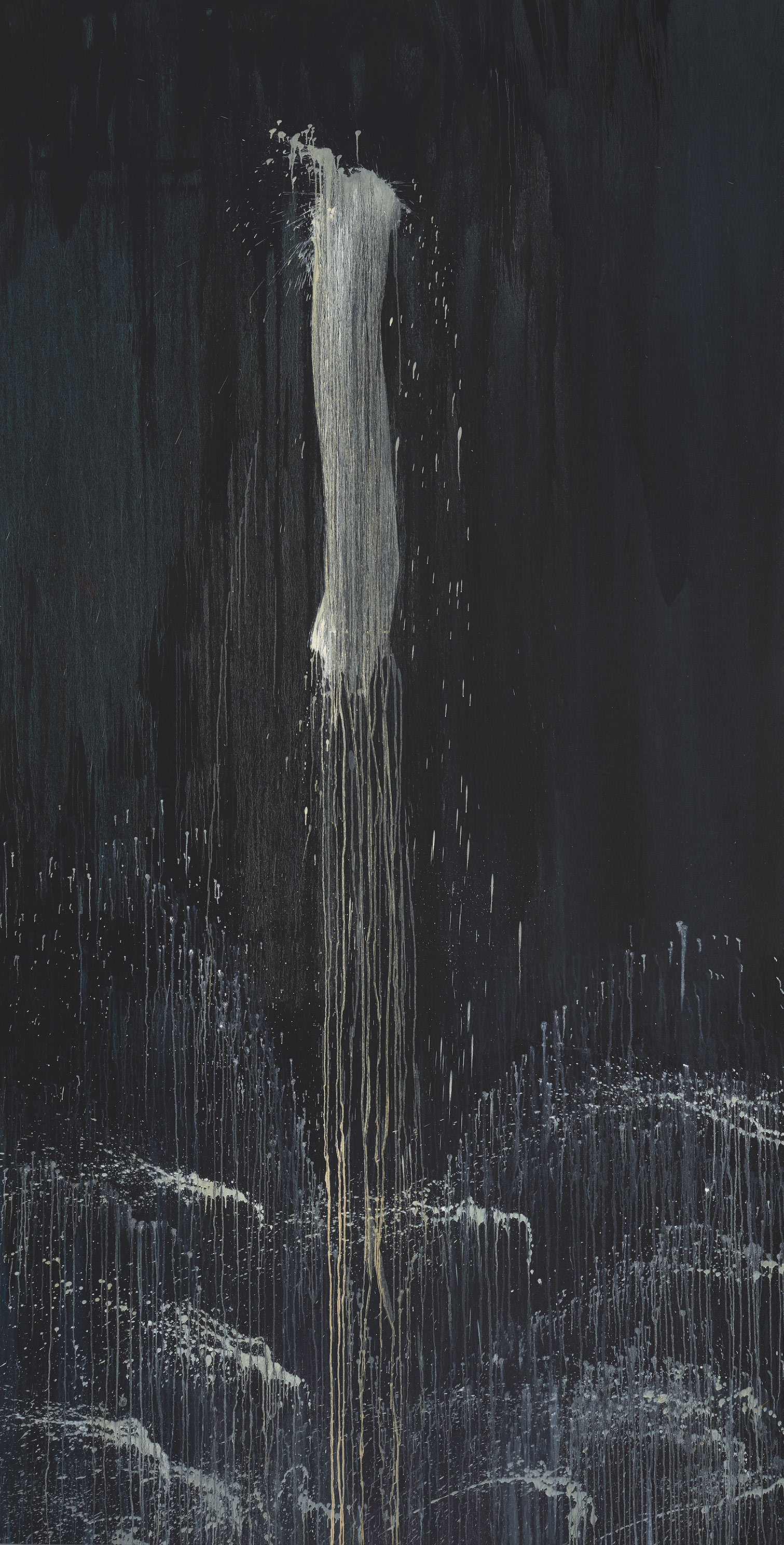 Pat Steir, Black and White One-Stroke Waterfall, 1992