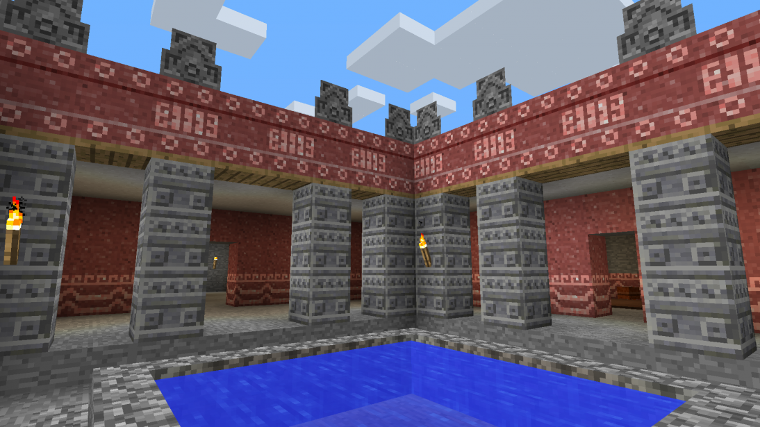 The Palace of Quetzalpapalotl depicted in the de Young's Teotihuacan Minecraft map