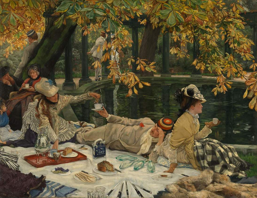"""Holyday (The Picnic),"" ca. 1876. Oil on canvas, 30 x 39 in. (76.2 x 99.4 cm). Tate, N04413. © Tate, London 2019"