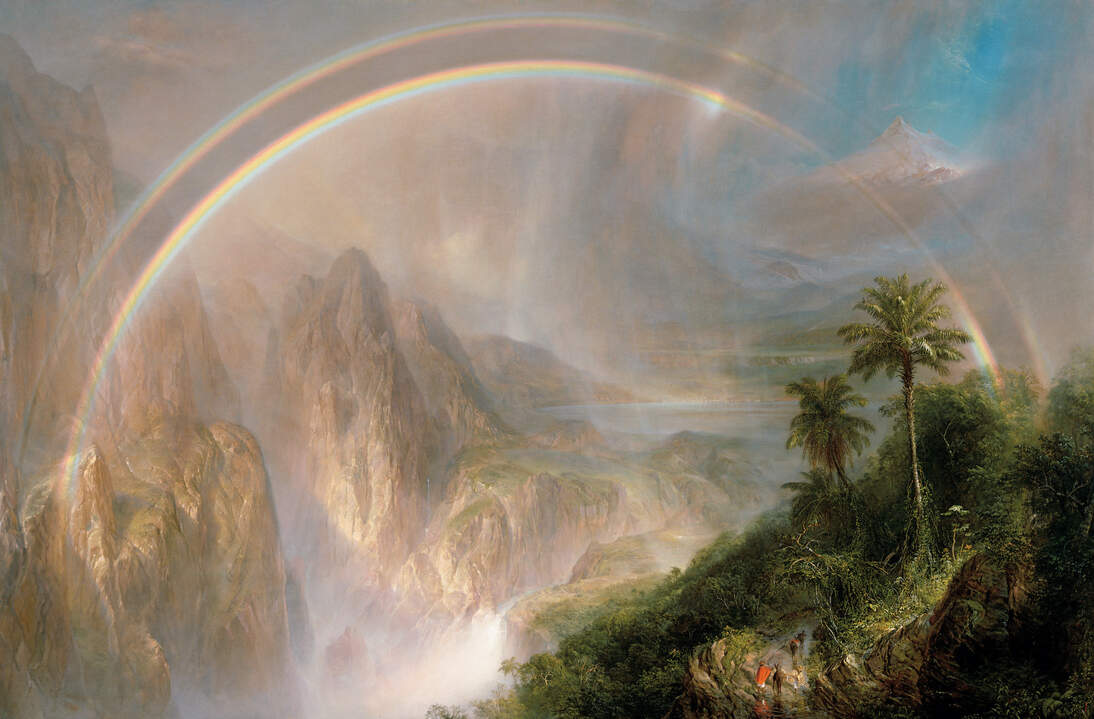 "Frederic Edwin Church, ""Rainy Season in the Tropics,"" 1866. Oil on canvas, 56 1/4 x 84 1/4 in. (142.9 x 214 cm). Fine Arts Museums of San Francisco, Museum purchase, Mildred Anna Williams Collection, 1970.9"