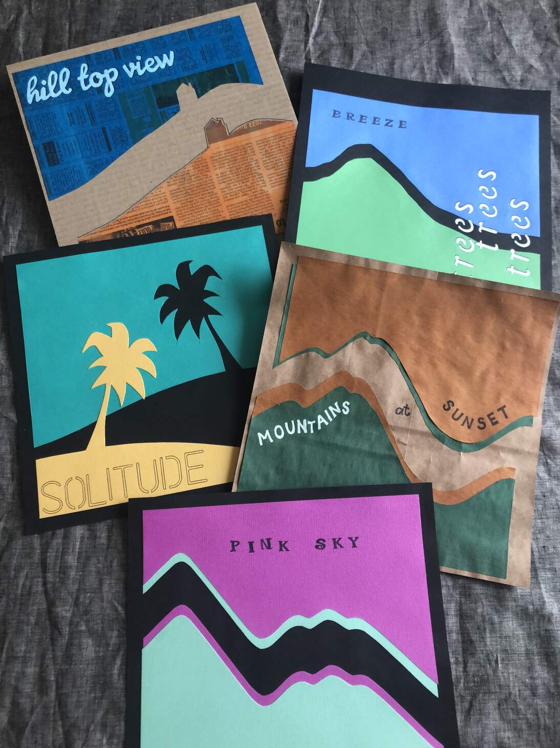 de Youngsters Studio: Horizon Line Collage Inspired by Ed Ruscha