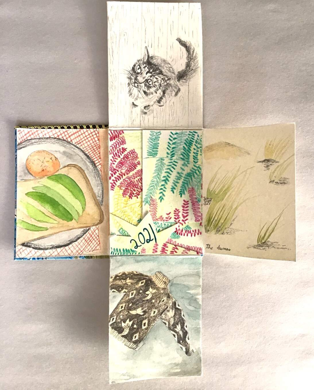 "de Youngsters Studio: Memory Book Inspired by Jennifer Bartlett's ""Four Seasons"""