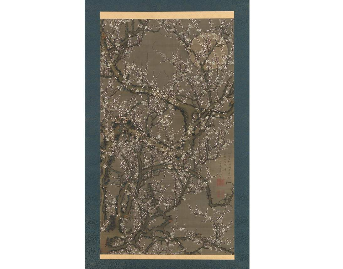 "Itō Jakuchū, ""White Plum Blossoms and Moon,"" 1755"