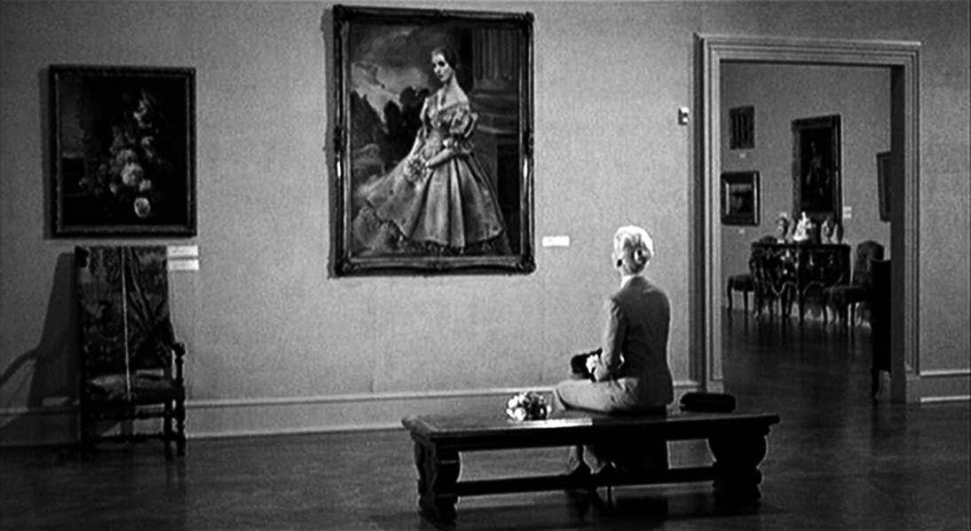 Still from Vertigo. The Companions makes a number of deliberate references to Hitchcock's classic mystery.