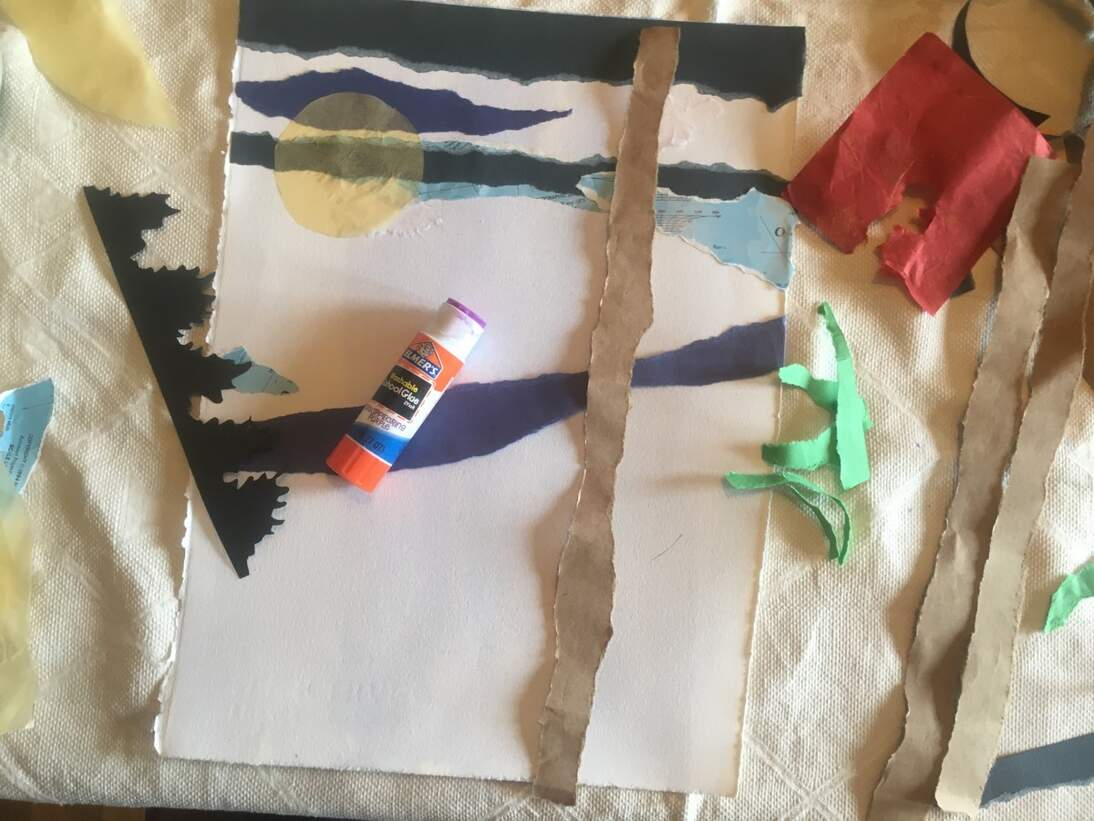 """de Youngsters Studio: Mixed-Media Collage Inspired by Ronald Lockett's """"Poison River"""""""