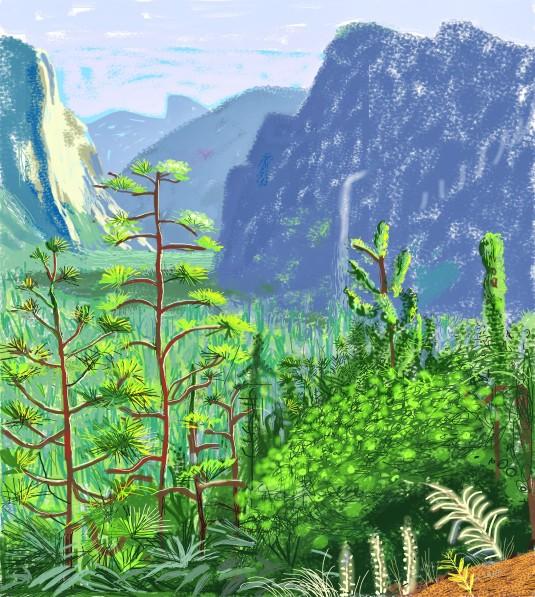 David Hockney Yosemite I