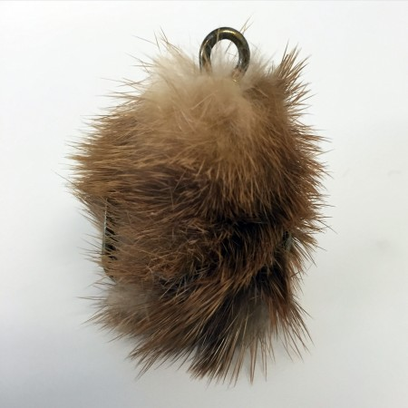 Whitney Lynn, Lure no. 049, 2016. Vintage fur, bronze hook, 2 x 1.5 in.