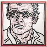 Keith Haring, Untitled (Self-Portrait), 1985. Acrylic on canvas. Private collection. Keith Haring artwork © Keith Haring Foundation