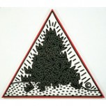 Keith Haring, A Pile of Crowns for Jean-Michel Basquiat, 1988. Acrylic on canvas. Collection of the Keith Haring Foundation.Keith Haring artwork © Keith Haring Foundation