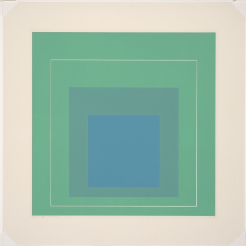 Josef Albers, White Line Square III, from White Line Squares (Series 1), 1966. Color lithograph. Fine Arts Museums of San Francisco, Anderson Graphic Arts Collection, gift of the Harry W. and Mary Margaret Anderson Charitable Foundation, 1996.74.10
