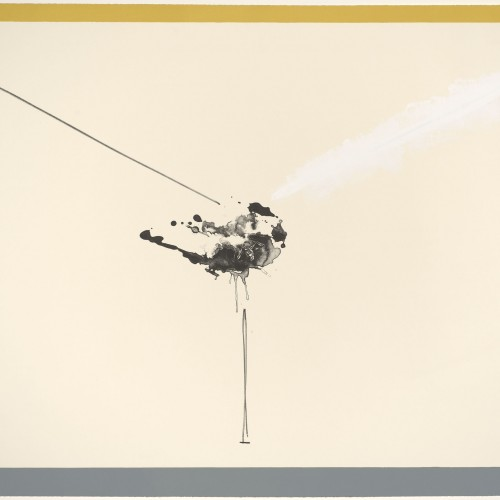 Robert Motherwell, Universal Limited Art Editions (publisher), Ben Berns (printer), West Islip, 1965–1970.  Color lithograph with hand-painted acrylic. Anderson Graphic Arts Collection, gift of the Harry W. and Mary Margaret Anderson Charitable Foundation, 1996.74.312. Art © Dedalus Foundation, Inc./Licensed by VAGA, New York, NY, Published by ULAE