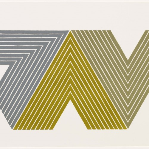 Frank Stella, Quathlamba II, from the V Series, 1968. Color lithograph. Fine Arts Museums of San Francisco, Anderson Graphic Arts Collection, gift of the Harry W. and Mary Margaret Anderson Charitable Foundation, 1996.74.448
