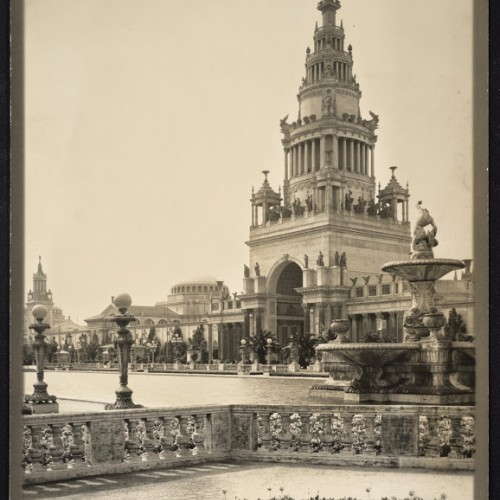 Willard E. Worden, <em>The Tower of Jewels</em>, 1915. Gelatin silver print. Jerry Bianchini Collection