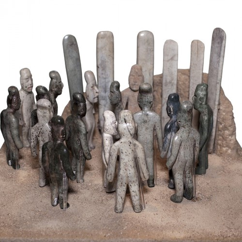 Figures and celts