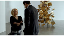"""Elisabeth Moss and Claes Bang in The Square. Photo courtesy of Magnolia Pictures."""