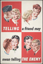"Unidentified artist (British, active mid-twentieth century), ""Telling a Friend May Mean Telling the Enemy (Navy),"" ca. 1940–1942"