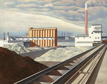 Charles Sheeler, Cult of the Machine, Classic Landscape, 1931