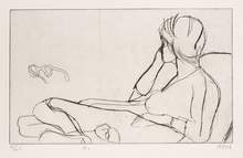 "Richard Diebenkorn, ""#1 (the artist's wife, Phyllis),"" 1964 from the portfolio ""41 Etchings Drypoints,"" 1965"