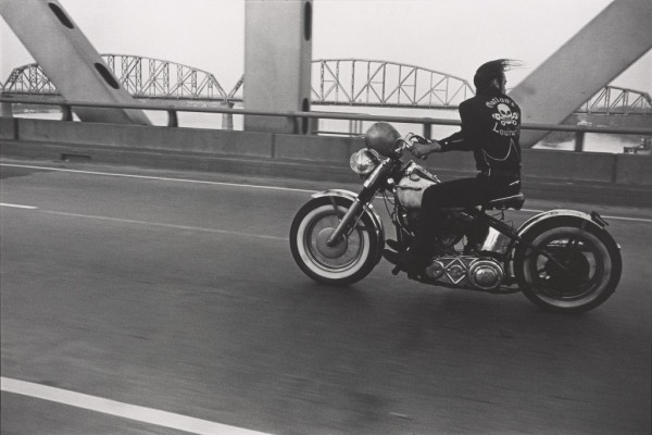 "Danny Lyon, ""Crossing the Ohio River, Louisville,"" 1966"