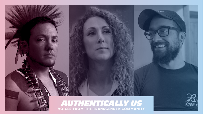"""Authentically Us: Voices from the Transgender Community"" poster, courtesy of Fovrth"