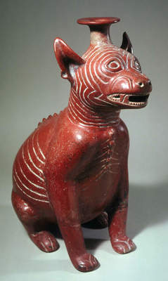 Seated dog, 300 BC–300 A.D. Mexico,