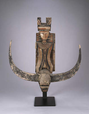 House façade figure, early 20th century Indonesia, Sulawesi, Mamasa region, Osango village