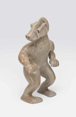 "David Ruben Piqtoukun, ""Bear in shamanic transformation,"" ca. 1991"