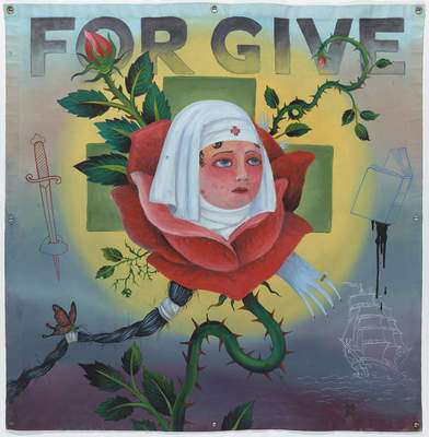 "Don Ed Hardy, ""Forgive,"" 1995"