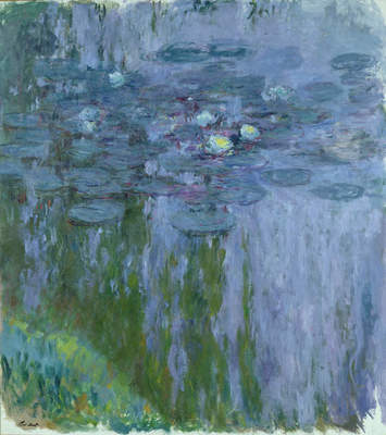 "Claude Monet, ""Water Lilies, Willow Reflection,"" 1916–1919"